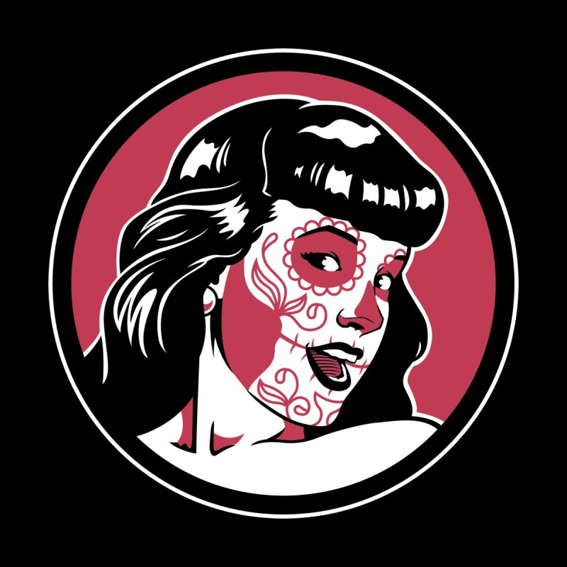 Bettie Sugar Skull Red by bennygraphix's Artist Shop