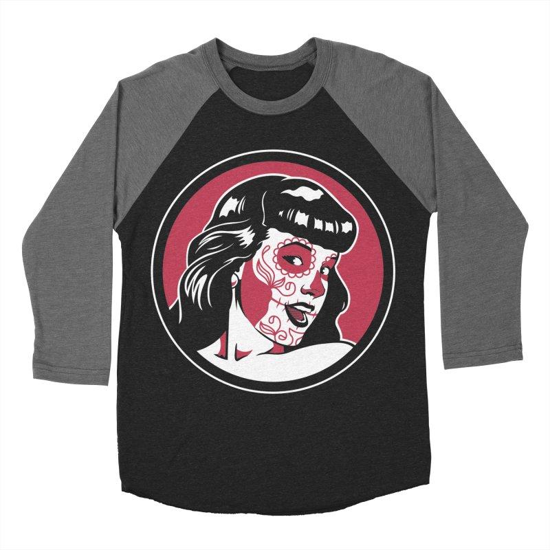 Bettie Sugar Skull Red Men's  by bennygraphix's Artist Shop