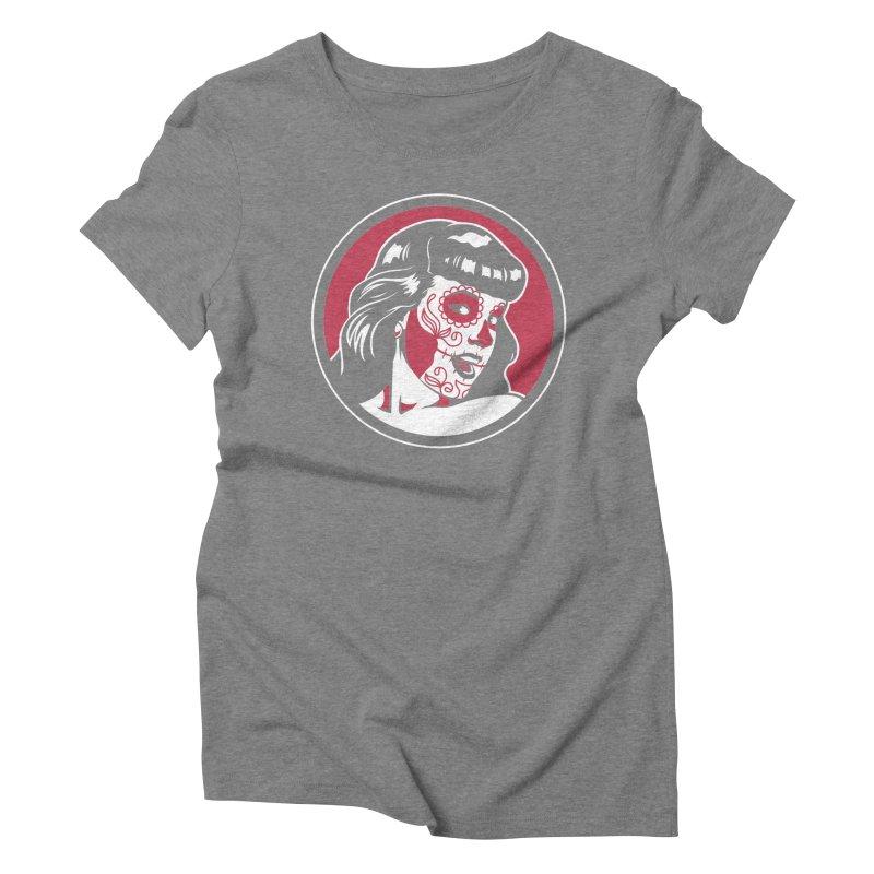 Bettie Sugar Skull Red Women's T-Shirt by bennygraphix's Artist Shop