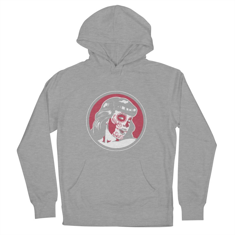 Bettie Sugar Skull Red Women's French Terry Pullover Hoody by bennygraphix's Artist Shop