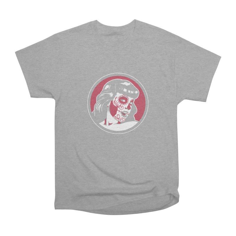 Bettie Sugar Skull Red Men's Heavyweight T-Shirt by bennygraphix's Artist Shop
