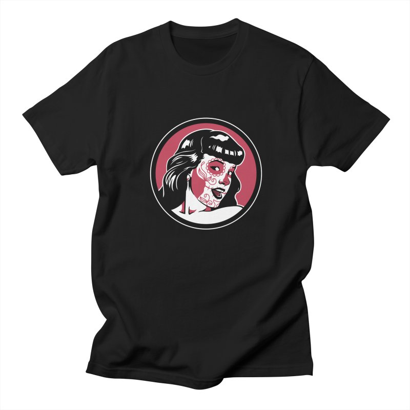 Bettie Sugar Skull Red Women's Regular Unisex T-Shirt by bennygraphix's Artist Shop