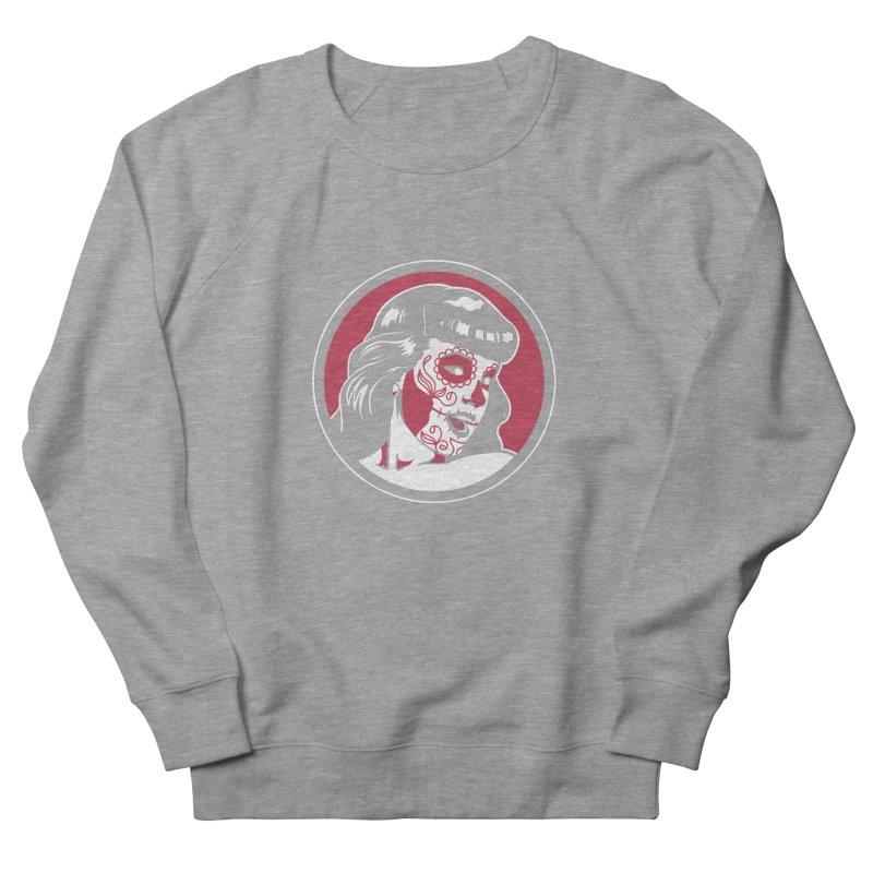 Bettie Sugar Skull Red Women's French Terry Sweatshirt by bennygraphix's Artist Shop