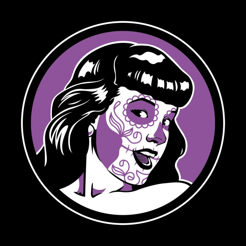 Bettie Sugar Skull Violet Women's Longsleeve T-Shirt by bennygraphix's Artist Shop