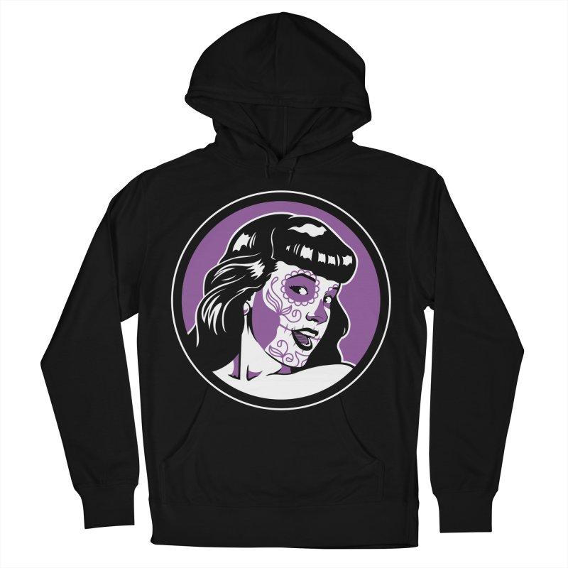 Bettie Sugar Skull Violet Men's Pullover Hoody by bennygraphix's Artist Shop