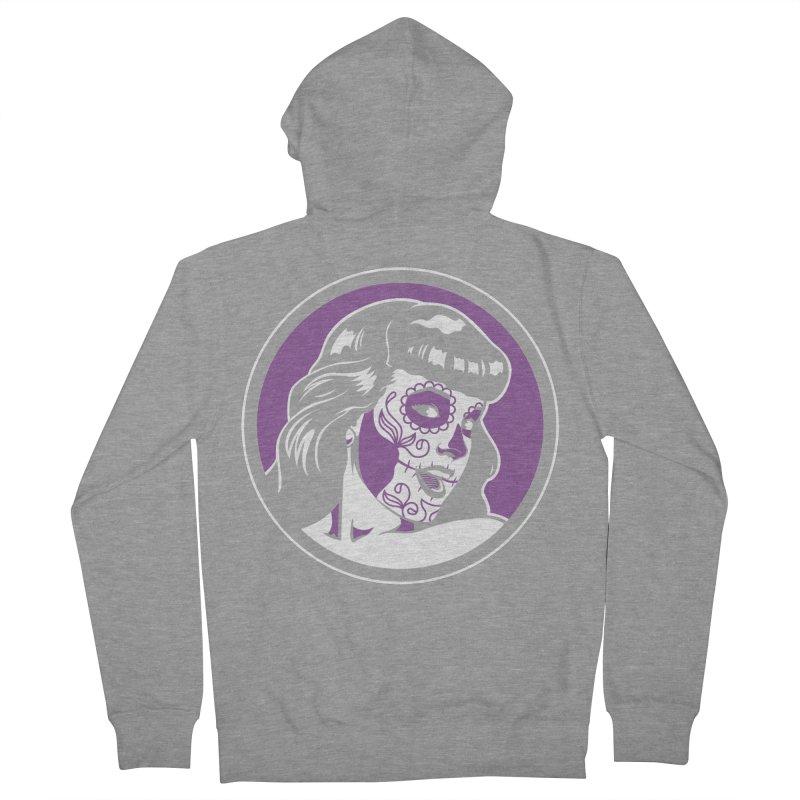 Bettie Sugar Skull Violet Women's Zip-Up Hoody by bennygraphix's Artist Shop