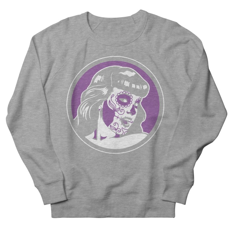 Bettie Sugar Skull Violet Men's Sweatshirt by bennygraphix's Artist Shop