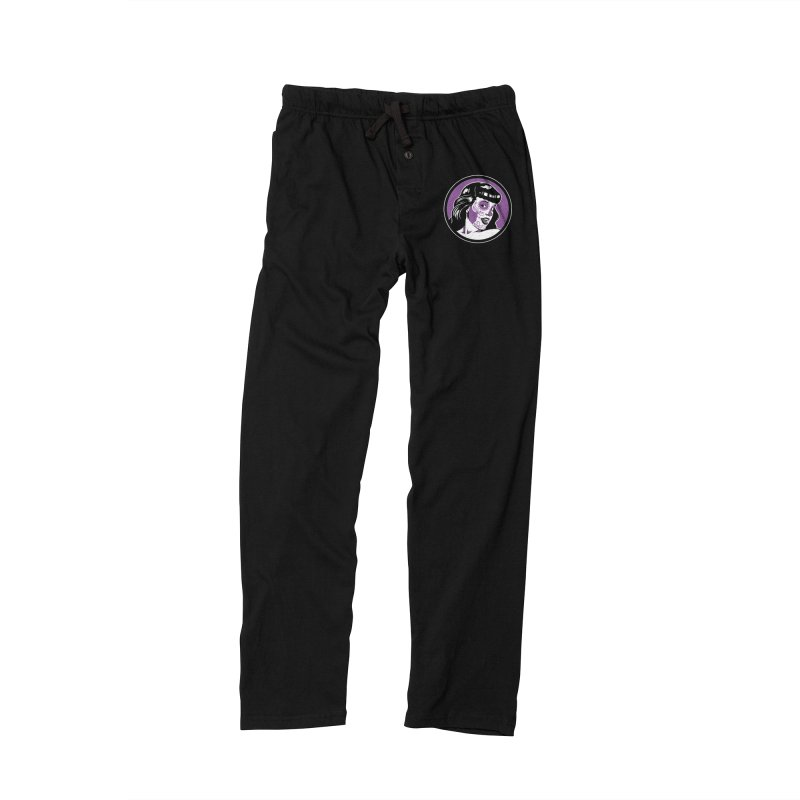 Bettie Sugar Skull Violet Men's Lounge Pants by bennygraphix's Artist Shop