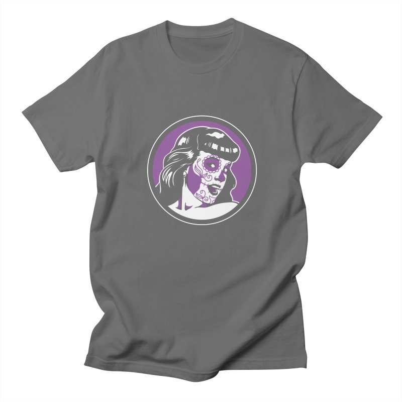 Bettie Sugar Skull Violet Men's T-Shirt by bennygraphix's Artist Shop