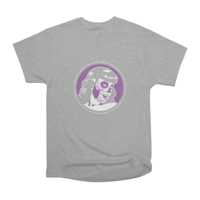 Bettie Sugar Skull Violet Women's Heavyweight Unisex T-Shirt by bennygraphix's Artist Shop