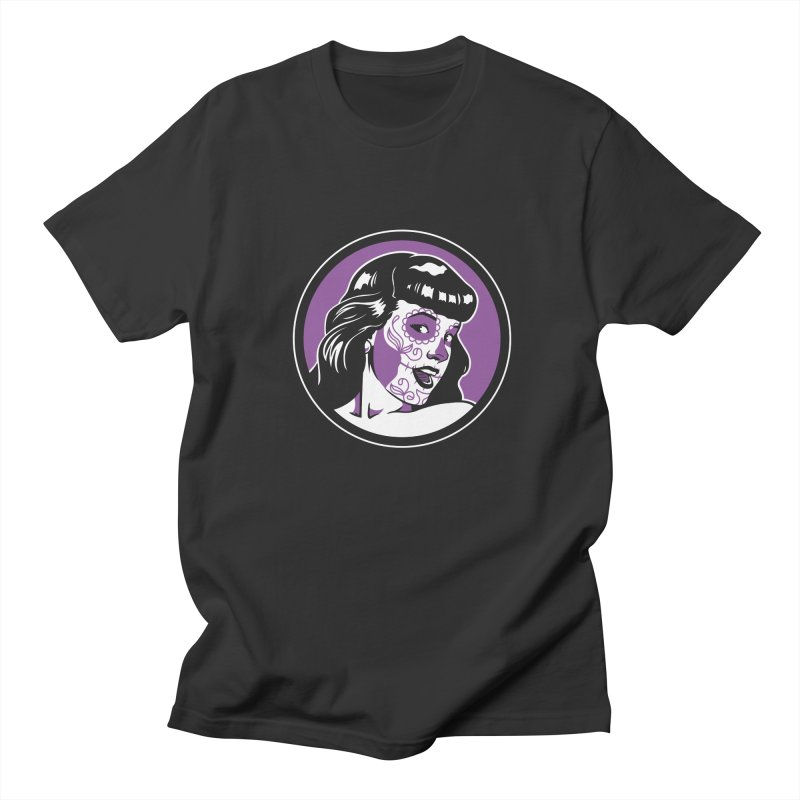 Bettie Sugar Skull Violet Women's Regular Unisex T-Shirt by bennygraphix's Artist Shop