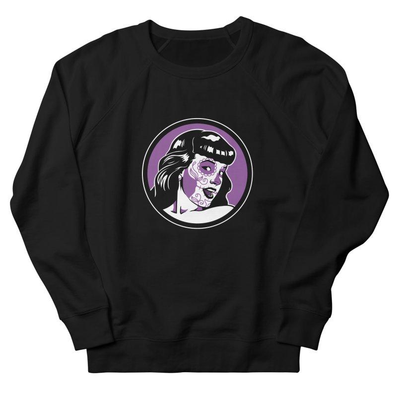 Bettie Sugar Skull Violet Men's French Terry Sweatshirt by bennygraphix's Artist Shop