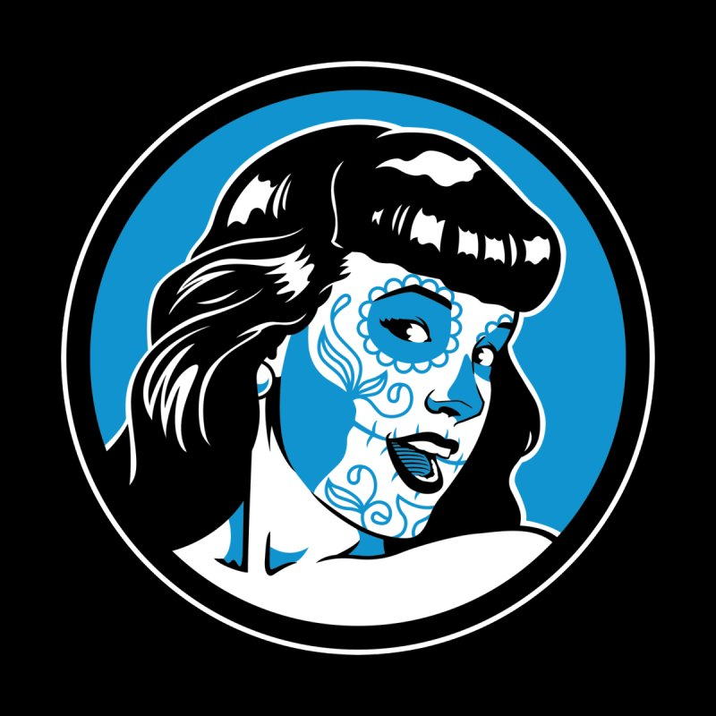 Bettie Sugar Skull Blue by bennygraphix's Artist Shop