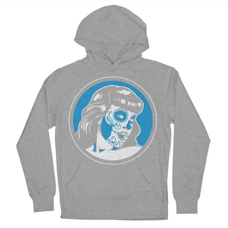 Bettie Sugar Skull Blue Men's Pullover Hoody by bennygraphix's Artist Shop
