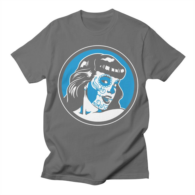 Bettie Sugar Skull Blue Women's Unisex T-Shirt by bennygraphix's Artist Shop
