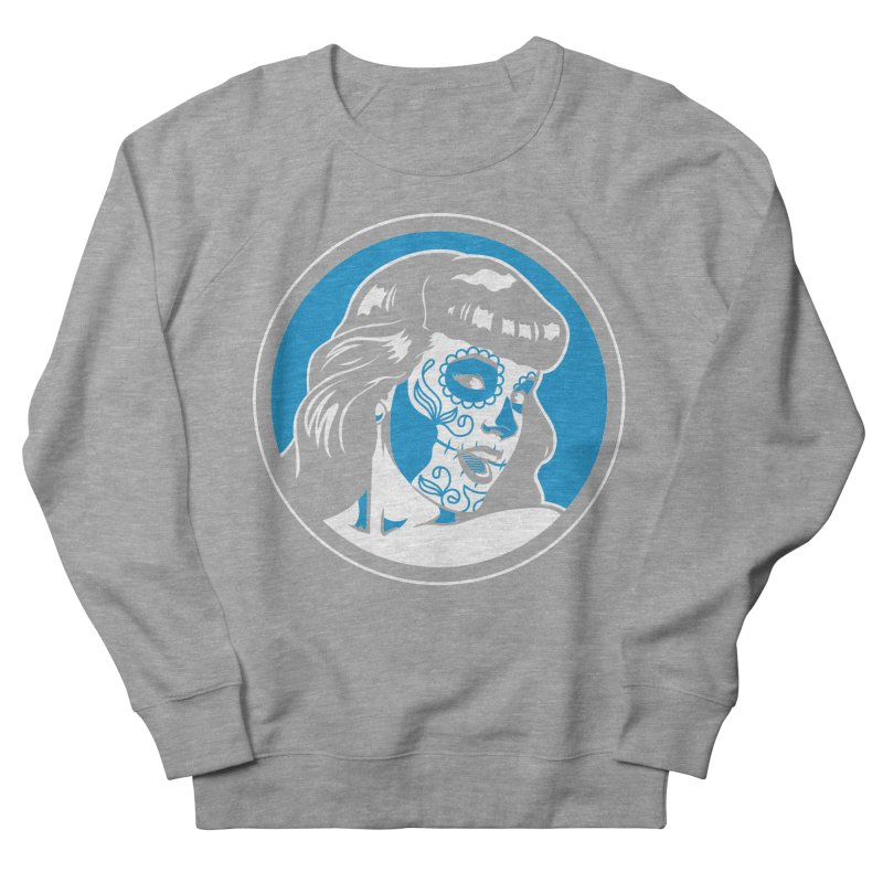 Bettie Sugar Skull Blue Women's Sweatshirt by bennygraphix's Artist Shop