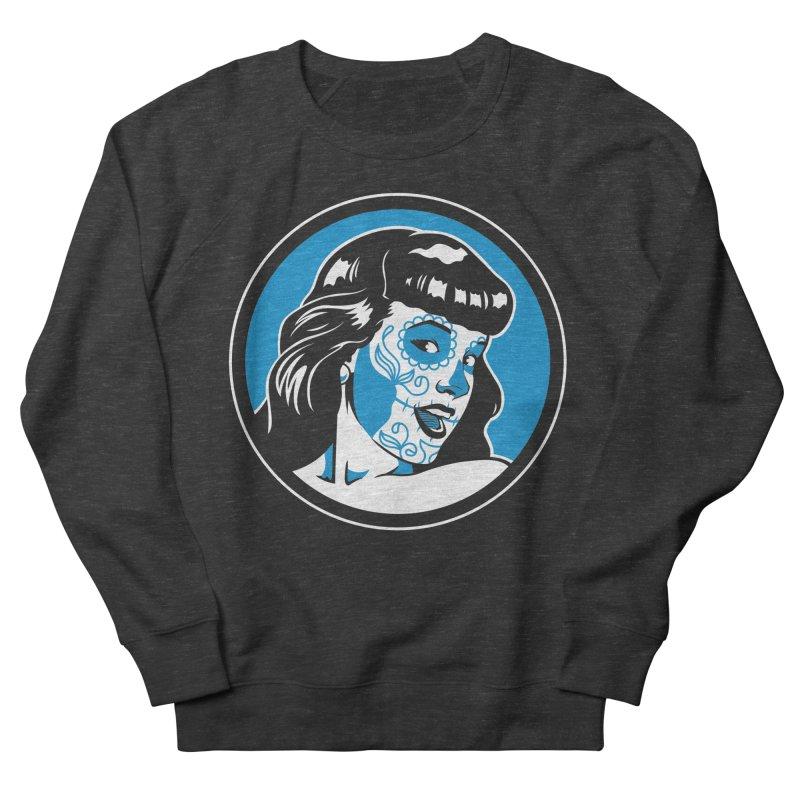 Bettie Sugar Skull Blue Men's Sweatshirt by bennygraphix's Artist Shop