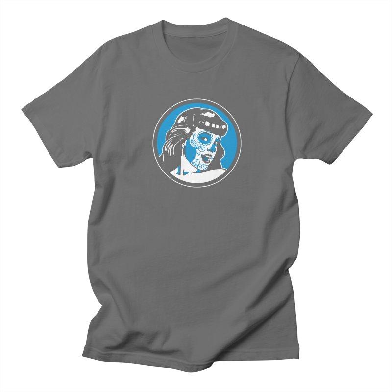 Bettie Sugar Skull Blue Men's T-Shirt by bennygraphix's Artist Shop