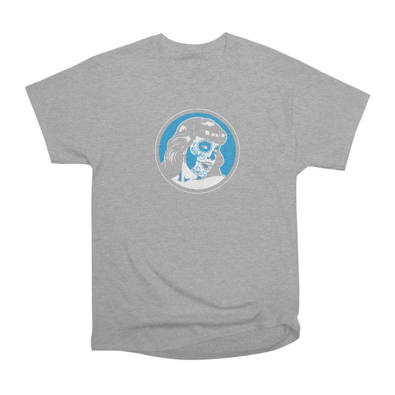 Bettie Sugar Skull Blue Men's Heavyweight T-Shirt by bennygraphix's Artist Shop