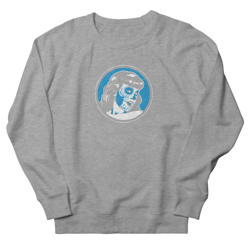 Bettie Sugar Skull Blue Men's French Terry Sweatshirt by bennygraphix's Artist Shop
