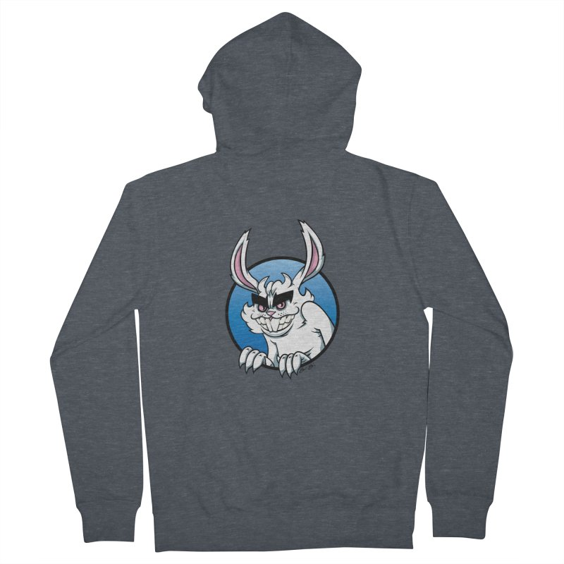 Bad Bunny Men's French Terry Zip-Up Hoody by bennygraphix's Artist Shop