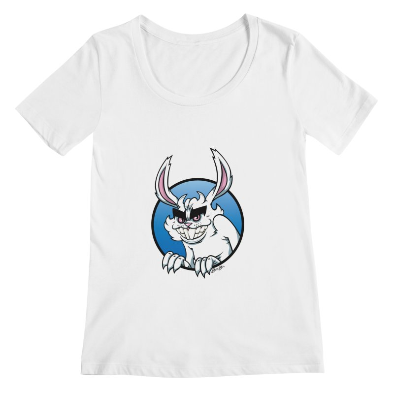 Bad Bunny Women's Regular Scoop Neck by bennygraphix's Artist Shop