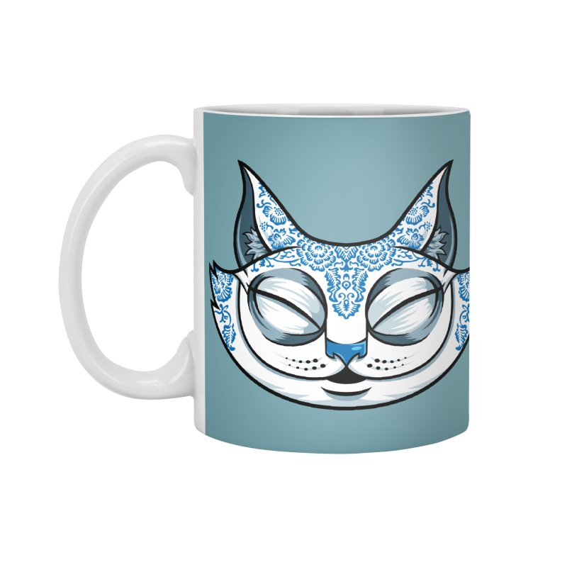 Cheshire Cat - Blue Accessories Mug by bennygraphix's Artist Shop