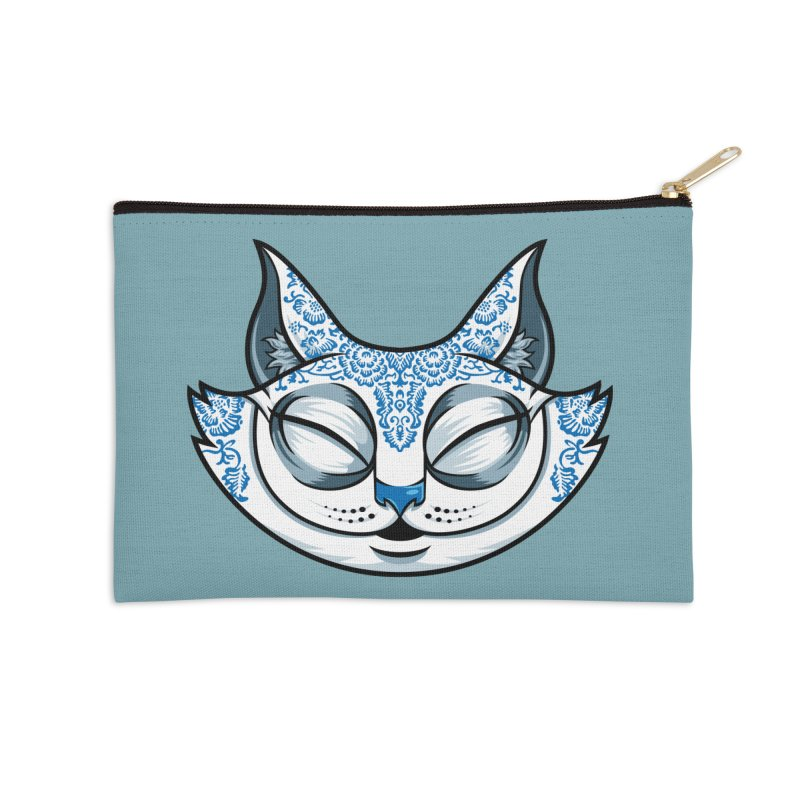 Cheshire Cat - Blue Accessories Zip Pouch by bennygraphix's Artist Shop