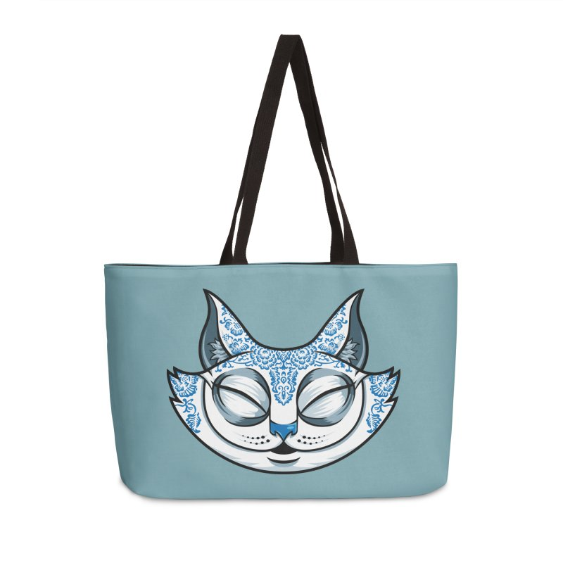 Cheshire Cat - Blue Accessories Weekender Bag Bag by bennygraphix's Artist Shop