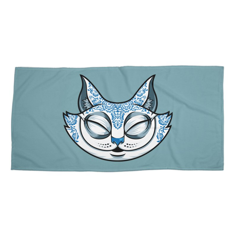 Cheshire Cat - Blue Accessories Beach Towel by bennygraphix's Artist Shop