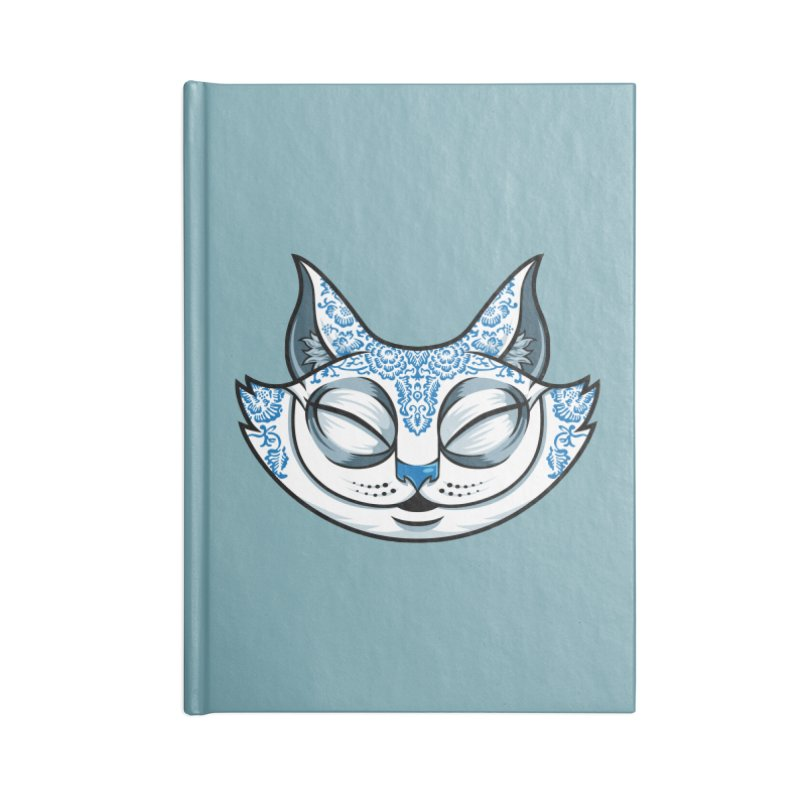Cheshire Cat - Blue Accessories Lined Journal Notebook by bennygraphix's Artist Shop