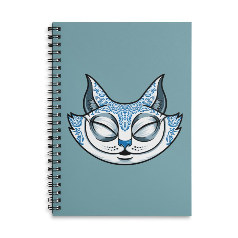 Cheshire Cat - Blue Accessories Lined Spiral Notebook by bennygraphix's Artist Shop