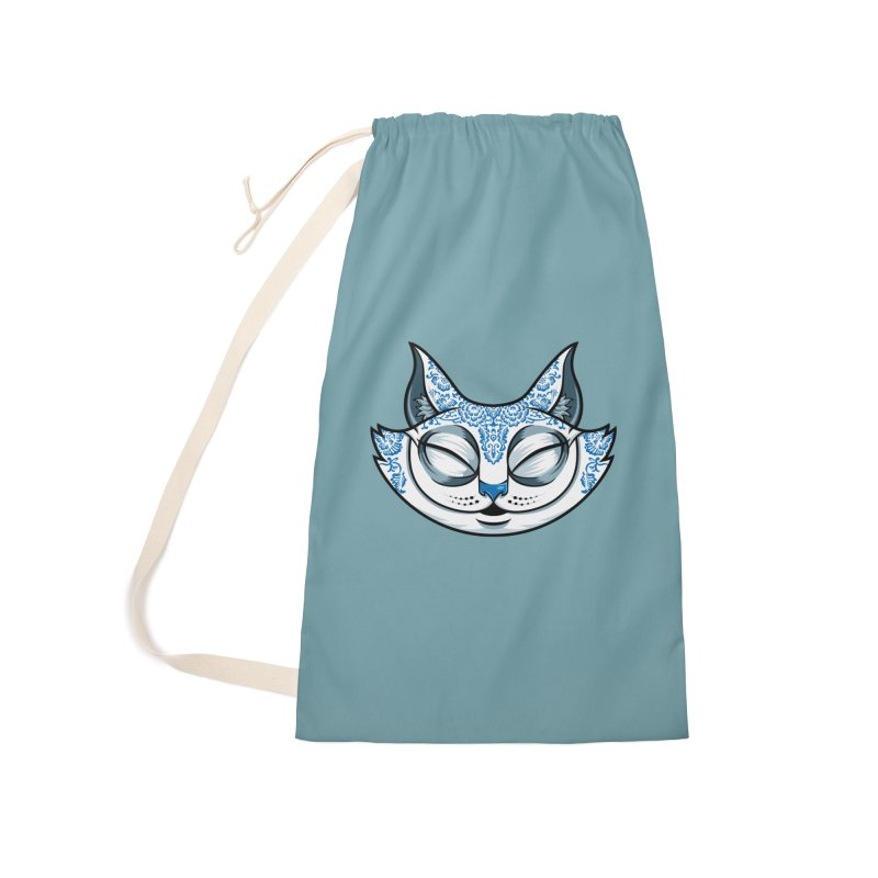 Cheshire Cat - Blue Accessories Laundry Bag Bag by bennygraphix's Artist Shop