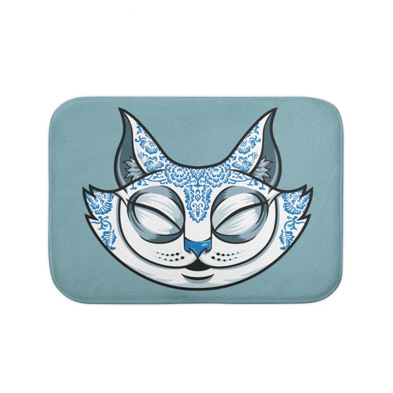 Cheshire Cat - Blue Home Bath Mat by bennygraphix's Artist Shop