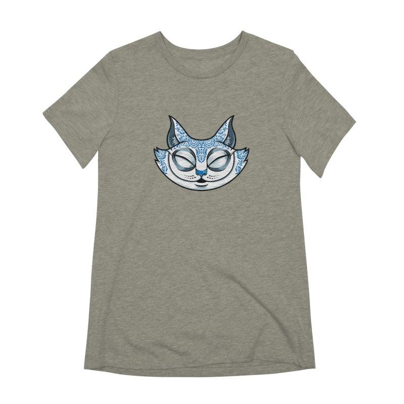 Cheshire Cat - Blue Women's T-Shirt by bennygraphix's Artist Shop