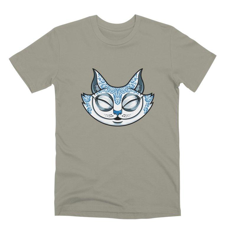 Cheshire Cat - Blue Men's Premium T-Shirt by bennygraphix's Artist Shop