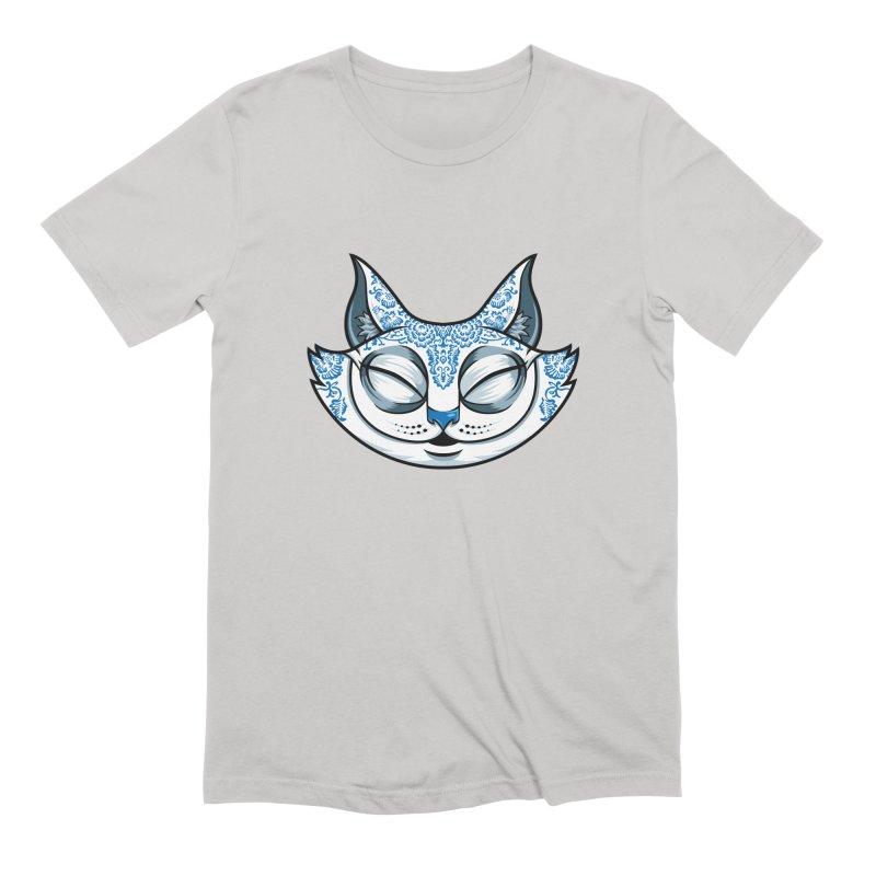 Cheshire Cat - Blue Men's Extra Soft T-Shirt by bennygraphix's Artist Shop