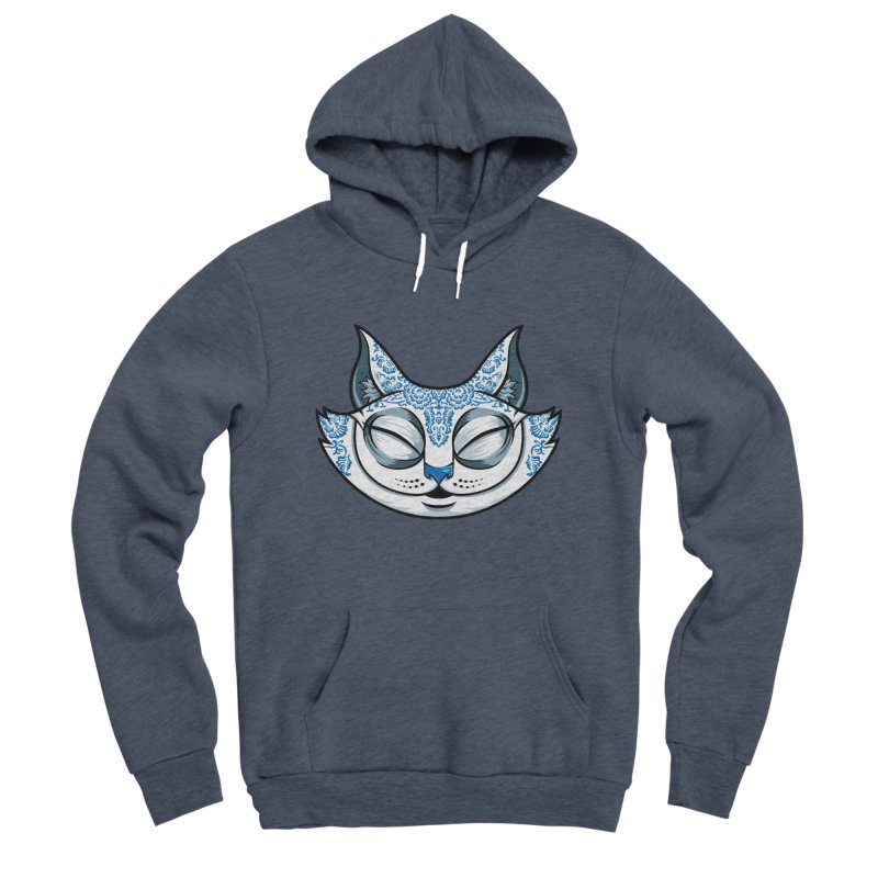 Cheshire Cat - Blue Women's Sponge Fleece Pullover Hoody by bennygraphix's Artist Shop