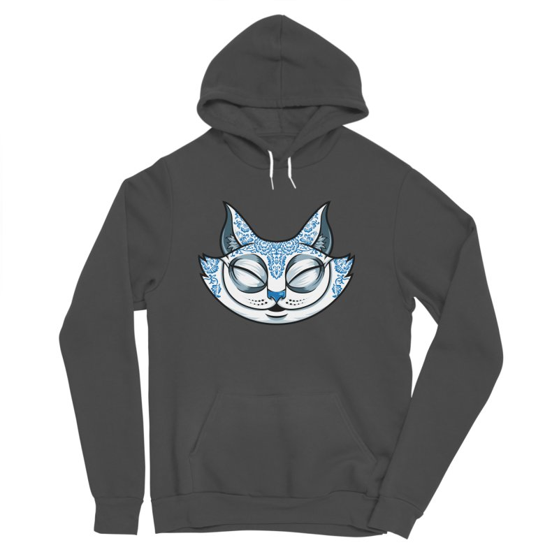 Cheshire Cat - Blue Men's Sponge Fleece Pullover Hoody by bennygraphix's Artist Shop