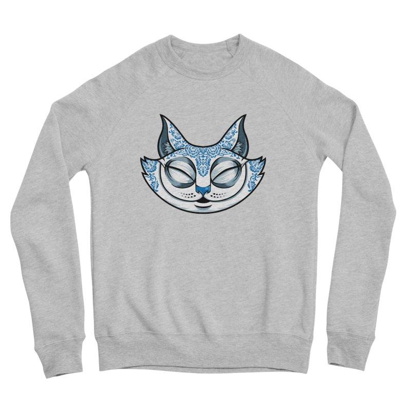 Cheshire Cat - Blue Women's Sponge Fleece Sweatshirt by bennygraphix's Artist Shop
