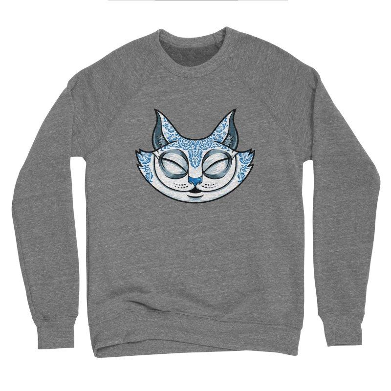 Cheshire Cat - Blue Men's Sponge Fleece Sweatshirt by bennygraphix's Artist Shop