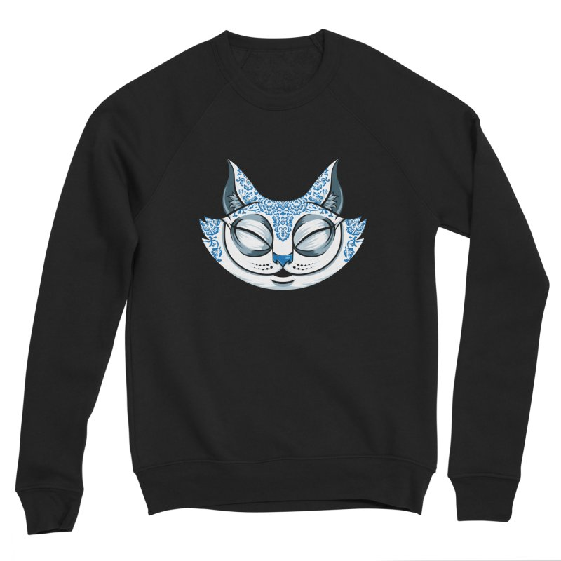 Cheshire Cat - Blue Men's Sponge Fleece Sweatshirt by bennygraphix's Artist Shop