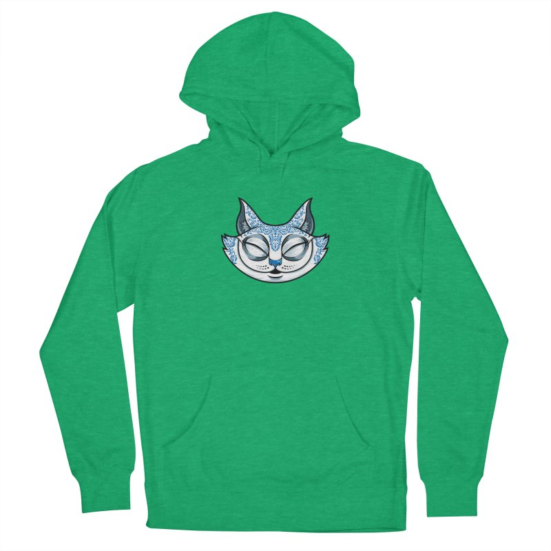 Cheshire Cat - Blue Men's French Terry Pullover Hoody by bennygraphix's Artist Shop