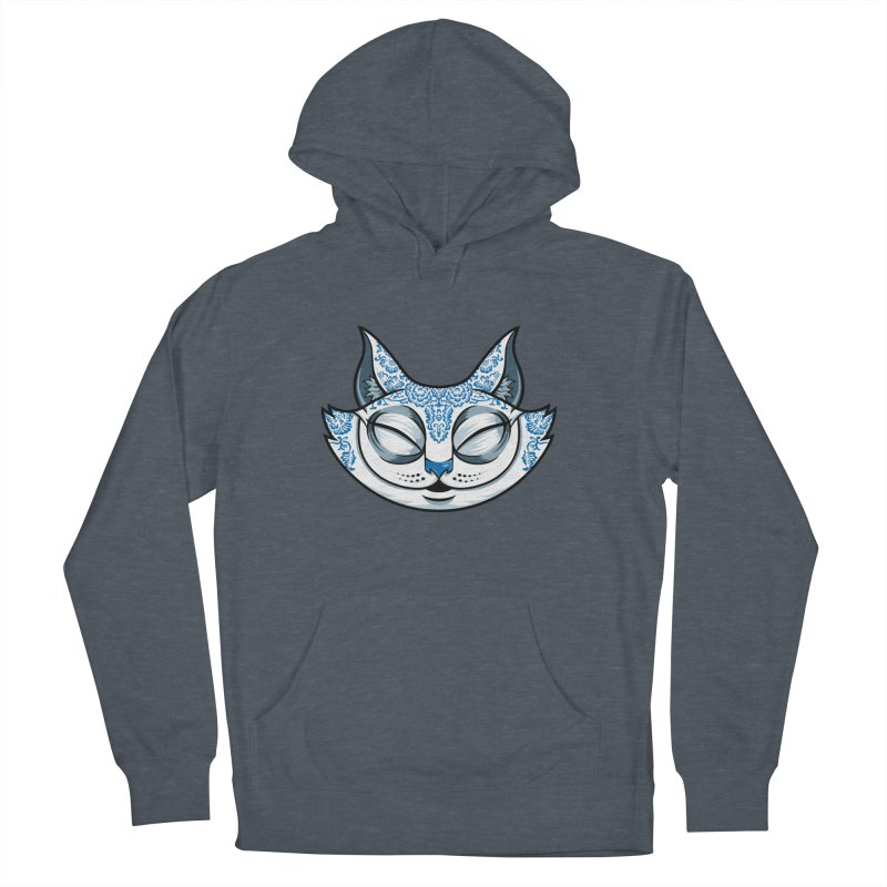 Cheshire Cat - Blue Women's French Terry Pullover Hoody by bennygraphix's Artist Shop