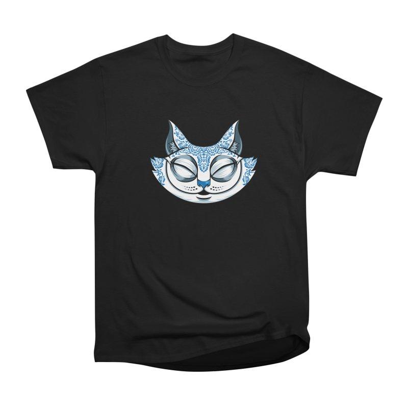 Cheshire Cat - Blue Women's Heavyweight Unisex T-Shirt by bennygraphix's Artist Shop