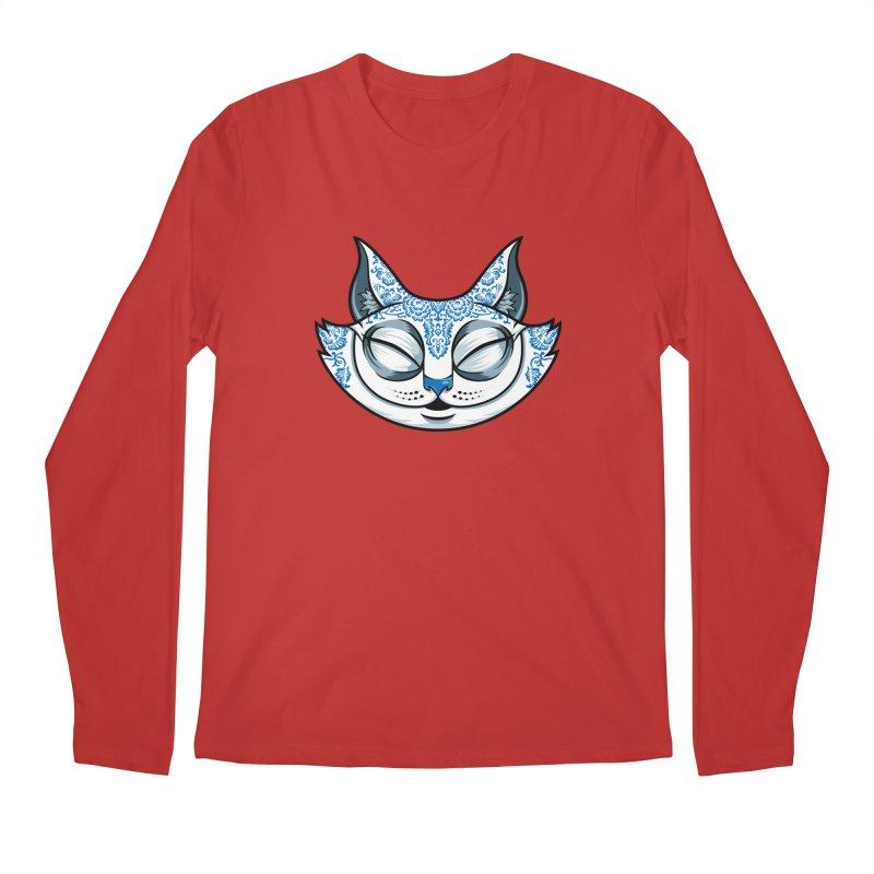 Cheshire Cat - Blue Men's Regular Longsleeve T-Shirt by bennygraphix's Artist Shop