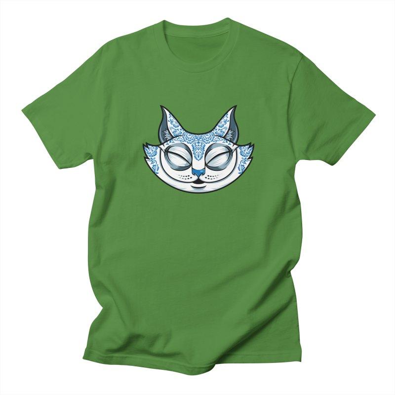 Cheshire Cat - Blue Men's Regular T-Shirt by bennygraphix's Artist Shop