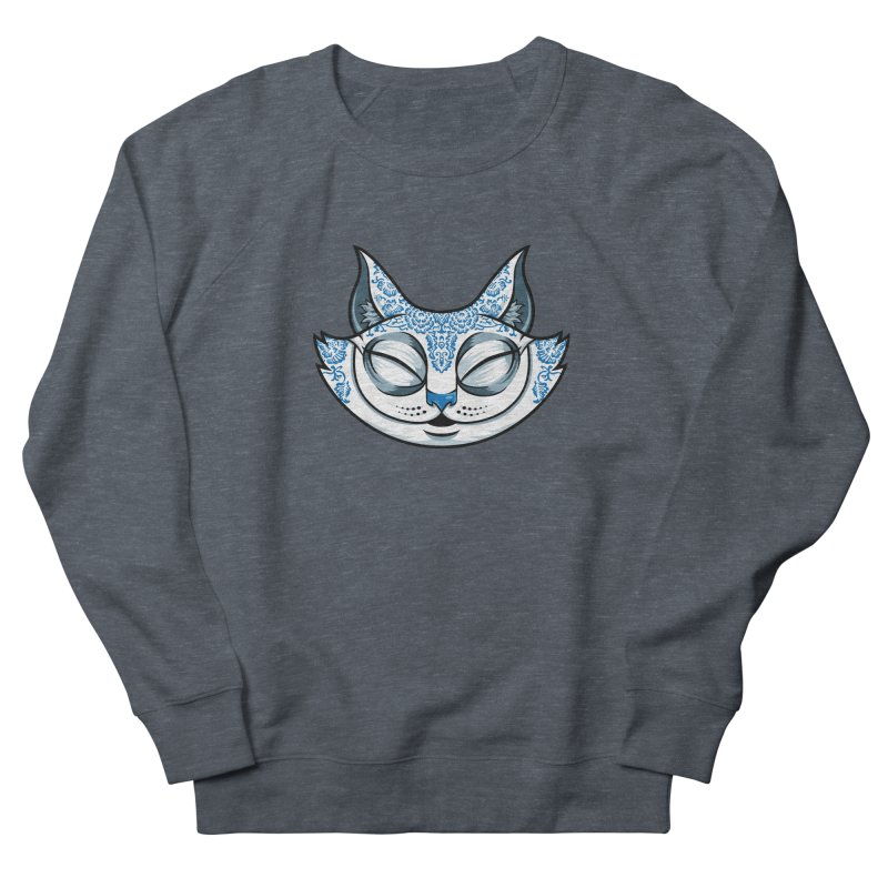 Cheshire Cat - Blue Women's French Terry Sweatshirt by bennygraphix's Artist Shop