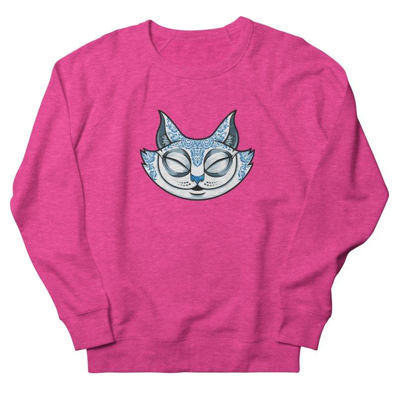 Cheshire Cat - Blue Women's French Terry Sweatshirt by bennygraphix's Artist Shop