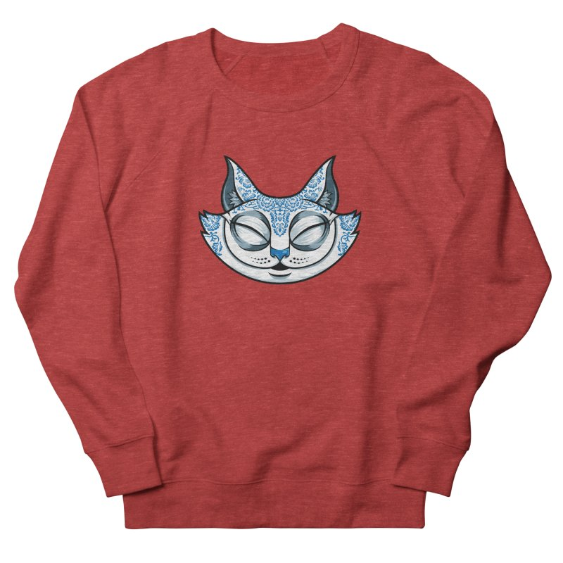 Cheshire Cat - Blue Men's French Terry Sweatshirt by bennygraphix's Artist Shop